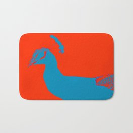 Peacock RED Bath Mat