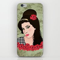 amy poehler iPhone & iPod Skins featuring Amy  by Pendientera