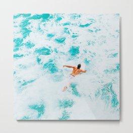 California Colors - Surfing - v5 Metal Print