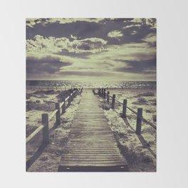 To the beach.... Throw Blanket