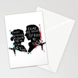 reylo - sabers Stationery Cards