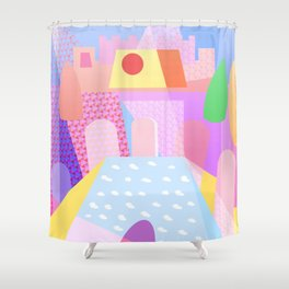 Palace Enclosure - Between Gardens And Ponds Shower Curtain