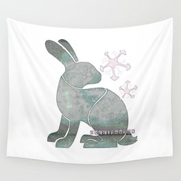 2+2BunnyFooFoo (white) Wall Tapestry