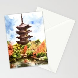 Kyoto Japanese Garden and Temple Stationery Cards