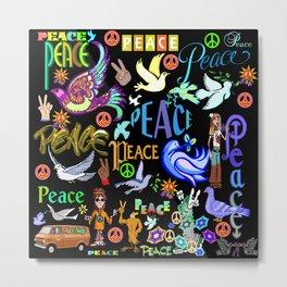 Peace Tweety Metal Print