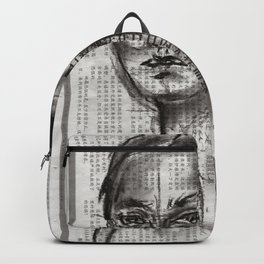 Alert - Charcoal on Newspaper Figure Drawing Backpack