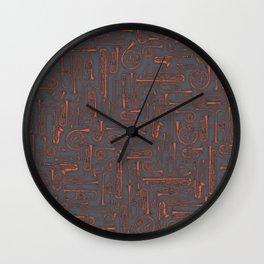 Horns COPPER Wall Clock