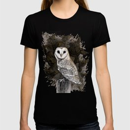 Barn Owl and Golden Starlings T-shirt