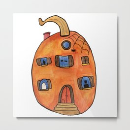 Pumpkin House Metal Print