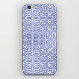 geometric pattern light blue square tiles iPhone Skin