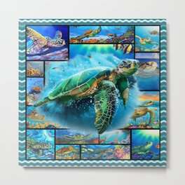 Amazing Turtles  Metal Print