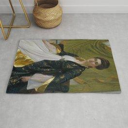 """Sir William Blake Richmond """"Portrait of Mrs. Ernest Moon"""" Rug"""