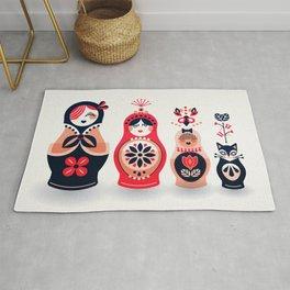 Russian Nesting Dolls – Hot Pink Rug