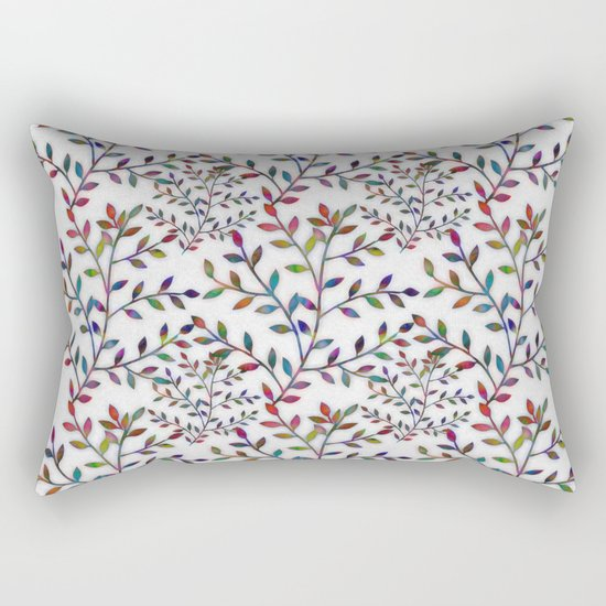 Small, Colorful Leaves  Rectangular Pillow