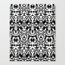 Rorschach madness Canvas Print