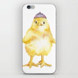 Tiara Chick Watercolor iPhone Skin