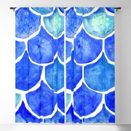 Mermaid Scales Blue & Turquoise Blackout Curtain