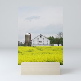 Barn and Silos 2 Mini Art Print