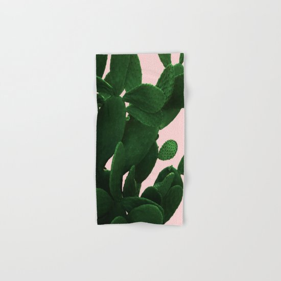 Cactus On Pink Hand & Bath Towel