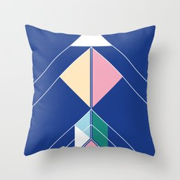 Tangram Arrow Two Throw Pillow