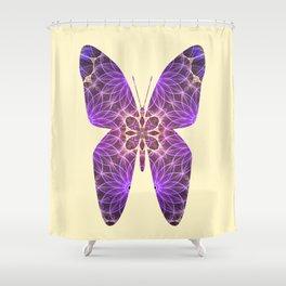 Butterfly 5 (purple) Shower Curtain