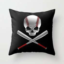 Phantom Ballplayer Throw Pillow