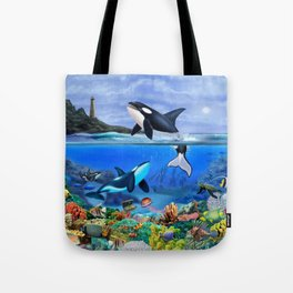 THE ORCA FAMILY Tote Bag