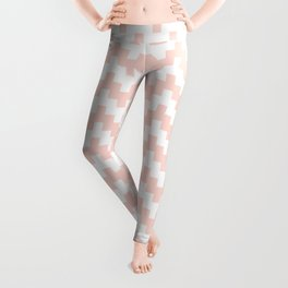 SALMON ABSTRACT WAVE PATTERN Leggings