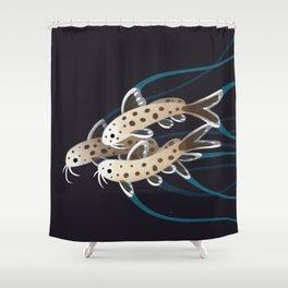 Leopard Catfish Shower Curtain