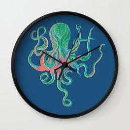 Octopus Fluo Wall Clock
