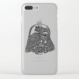 Kanji calligraphy art :dark side Clear iPhone Case