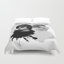 the Arctic Strokes Duvet Cover