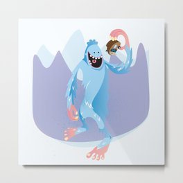 Year of the Yeti Metal Print