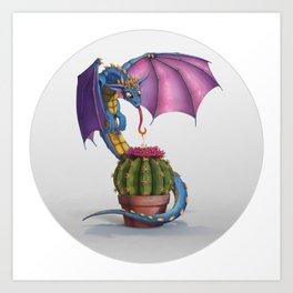 Cactus-flower Dragon Art Print