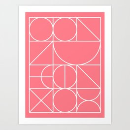 Modern Geometric 77 Pink Art Print