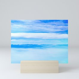 Heavenly Mountains In A Sea Of Clouds Mini Art Print