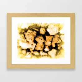 A Pebbles Pattern Framed Art Print