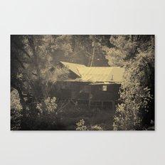 Merced River Creepy Cabin  Canvas Print