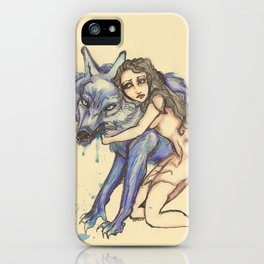 protection by wolf iPhone Case