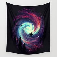 inspirational Wall Tapestries featuring Adventure Awaits by nicebleed