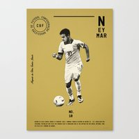 neymar Canvas Prints featuring Neymar by Dylan Giala