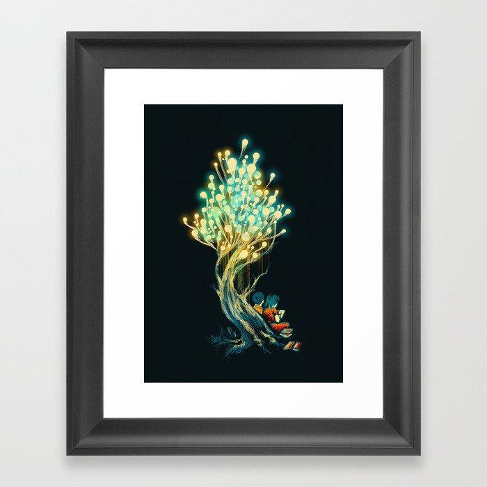ElectriciTree Framed Art Print