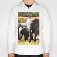 elephants Hoodies featuring Elephants by Regan's World