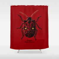 bug Shower Curtains featuring Uncommon Bug by victor calahan