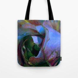 Floribunda Rose - Cool Blue Green Tote Bag