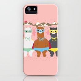 Alpaca Superheroes I iPhone Case
