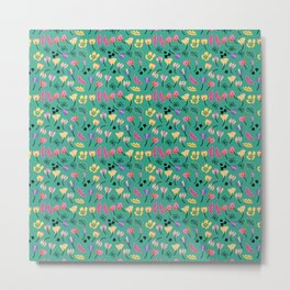Summer Floral Dream Collection II// Summer collection // seamless pattern  Metal Print