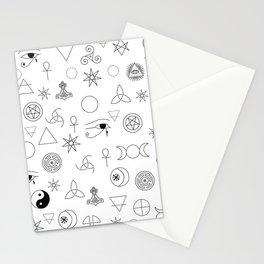Witchcraft symbols Stationery Cards