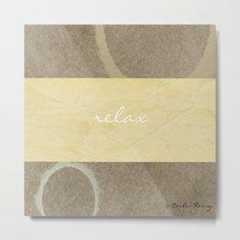 Relax Modern Art w/ Signature Metal Print