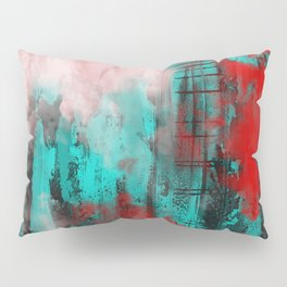 Intense Red And Blue Pillow Sham